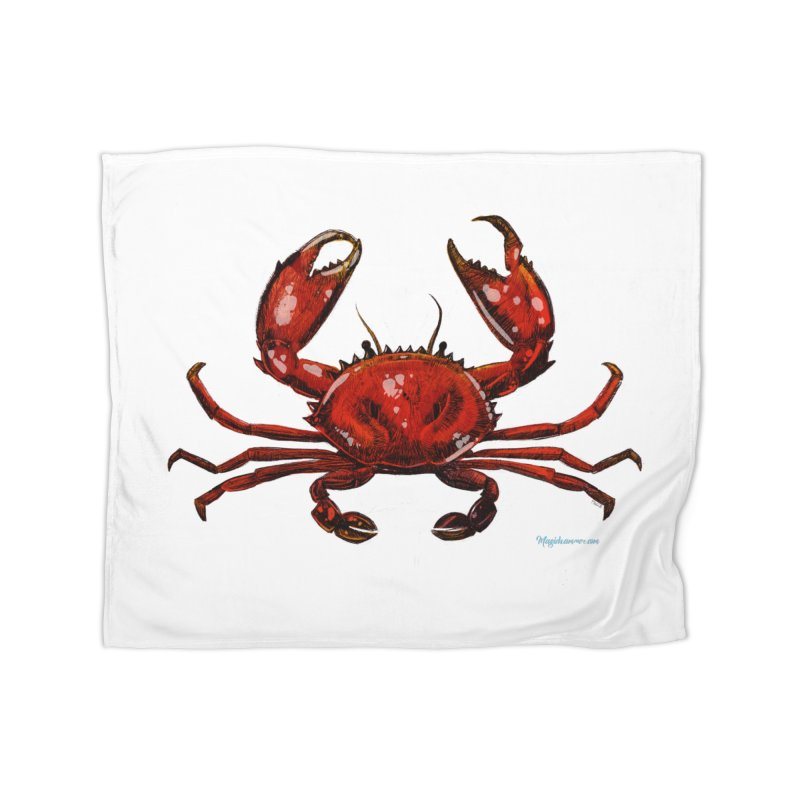 Red Crab Home Blanket by Magichammer Art By Russ Fagle Shop