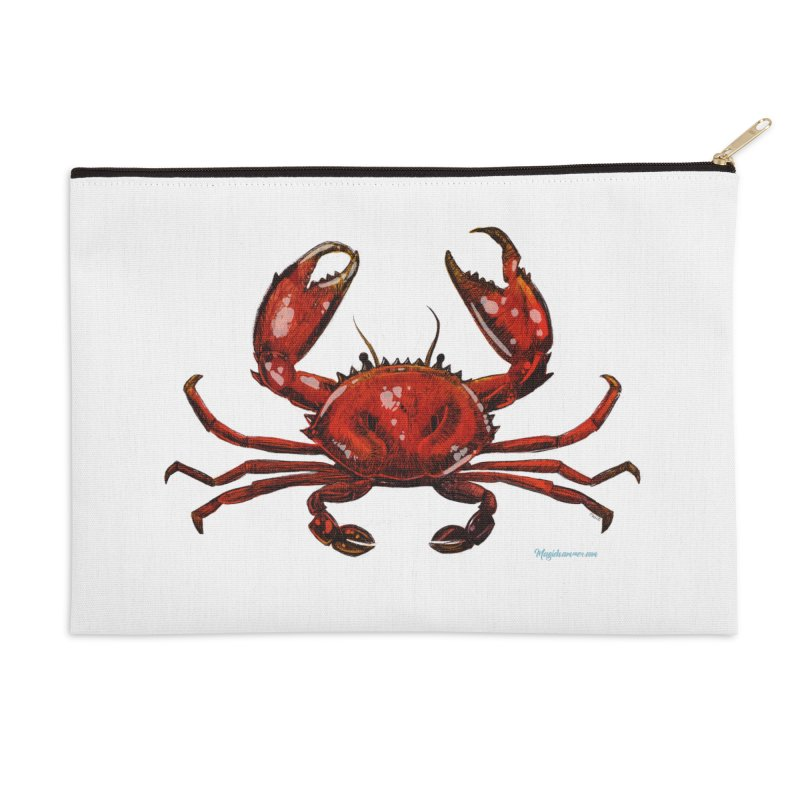 Red Crab Accessories Zip Pouch by Magichammer Art By Russ Fagle Shop