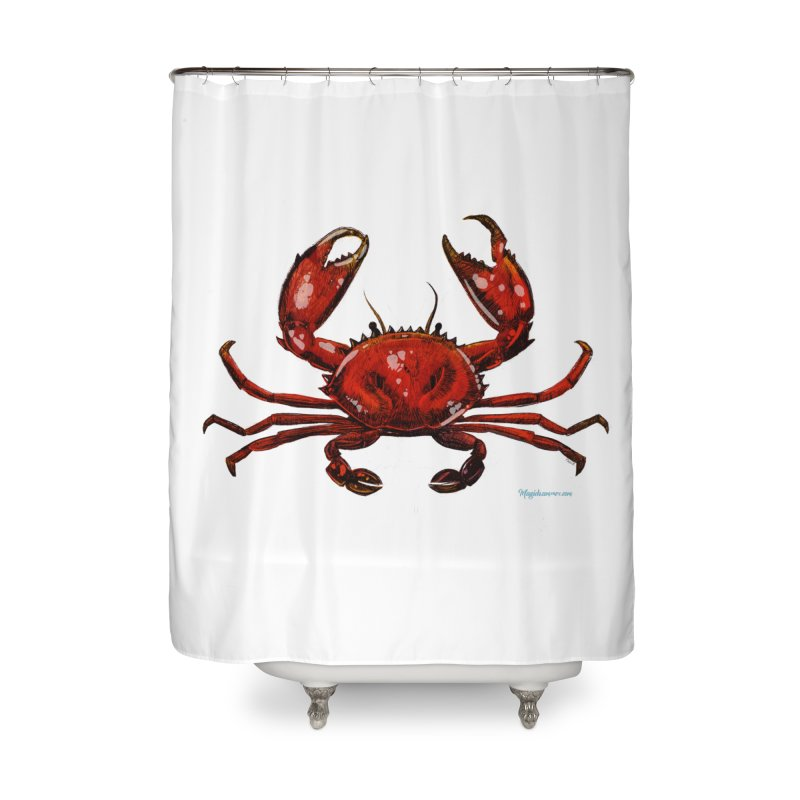 Red Crab Home Shower Curtain by Magichammer Art By Russ Fagle Shop