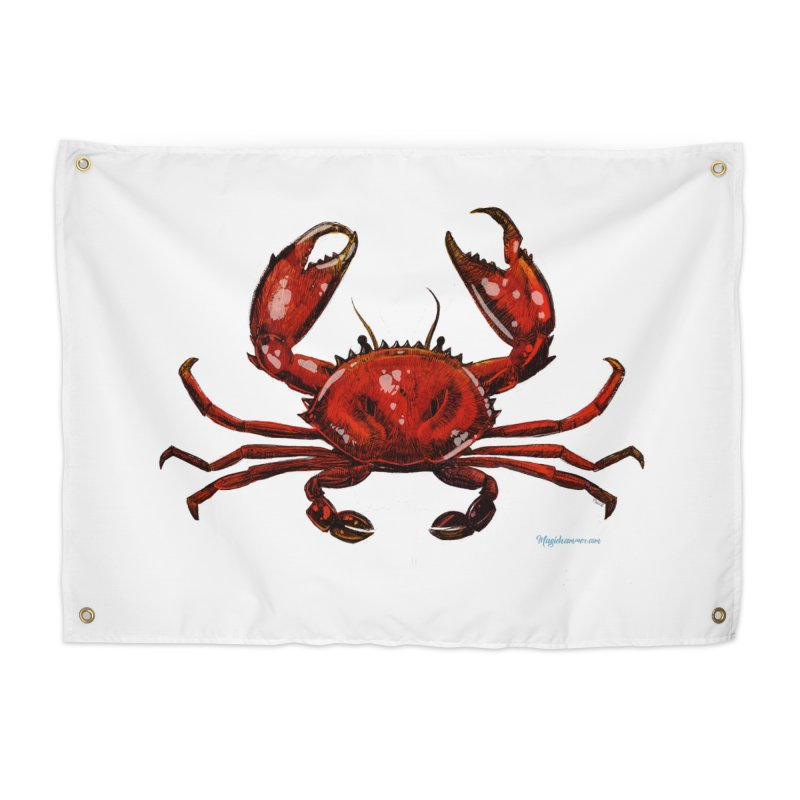 Red Crab Home Tapestry by Magichammer Art By Russ Fagle Shop