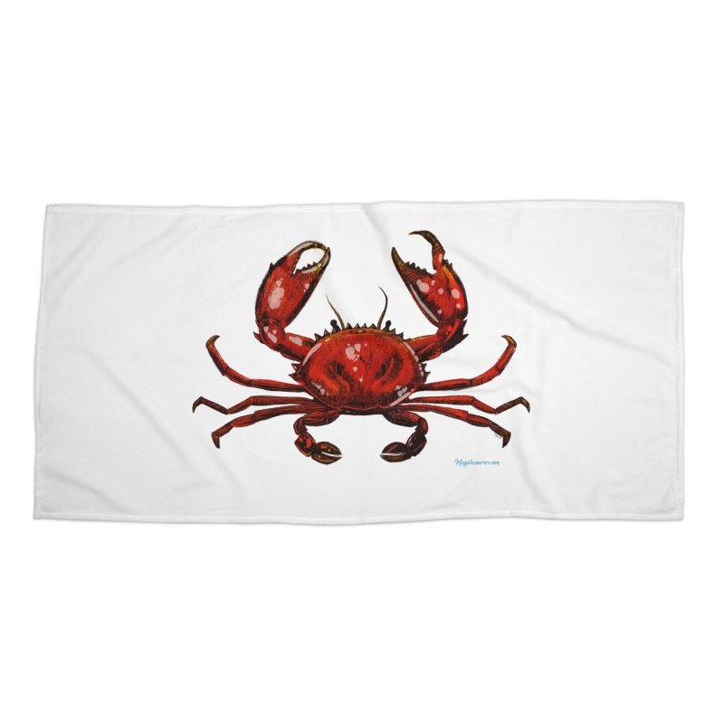 Red Crab Accessories Beach Towel by Magichammer Art By Russ Fagle Shop