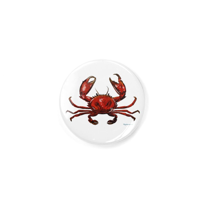Red Crab Accessories Button by Magichammer Art By Russ Fagle Shop