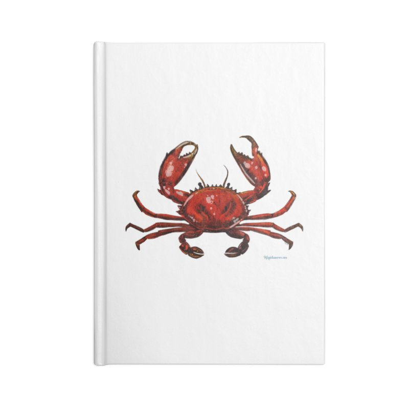 Red Crab Accessories Notebook by Magichammer Art By Russ Fagle Shop