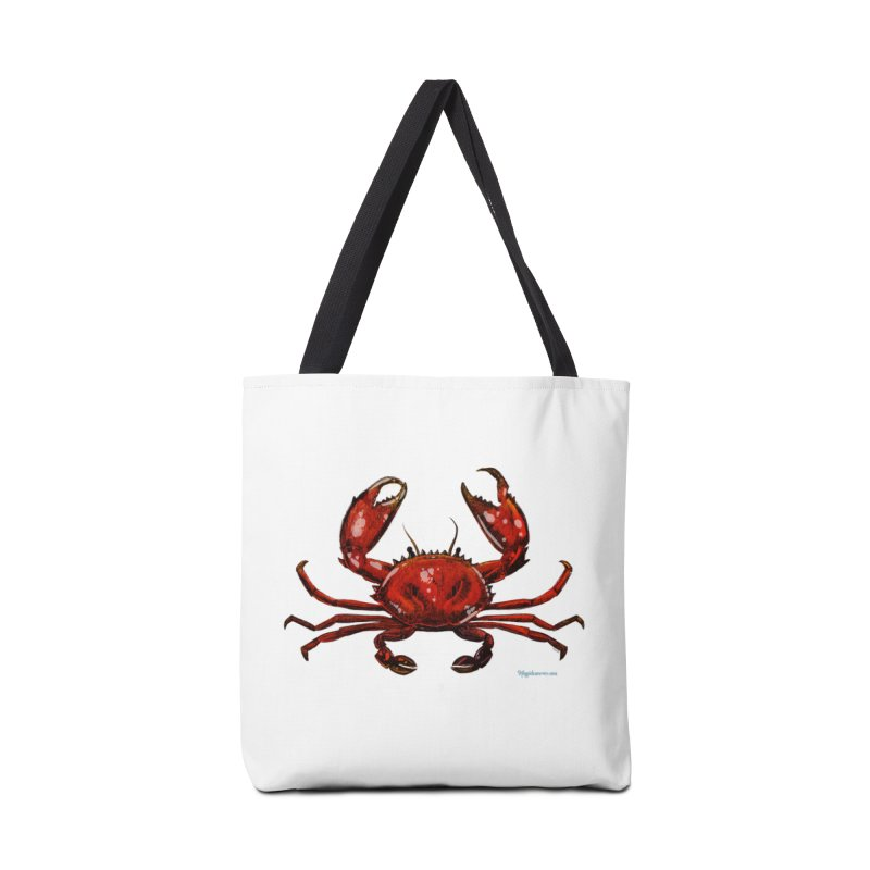 Red Crab Accessories Bag by Magichammer Art By Russ Fagle Shop