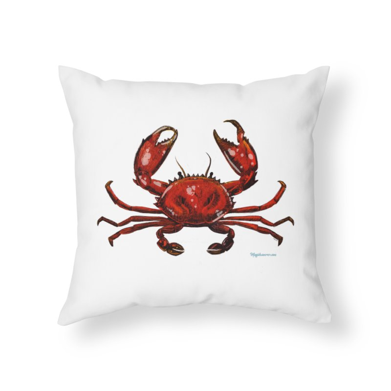 Red Crab Home Throw Pillow by Magichammer Art By Russ Fagle Shop