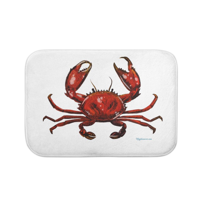 Red Crab Home Bath Mat by Magichammer Art By Russ Fagle Shop