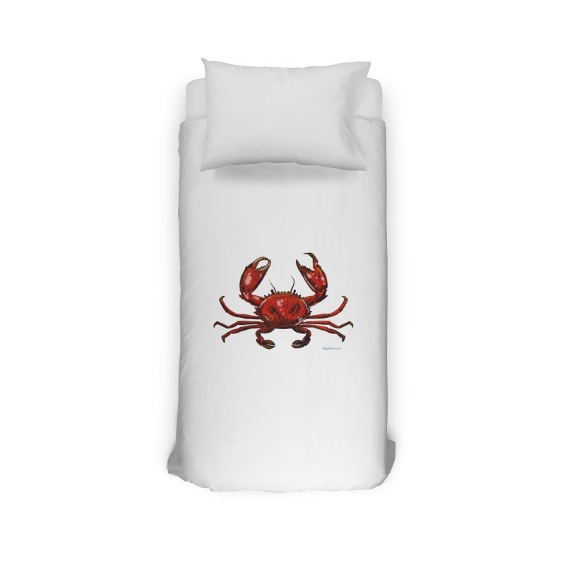 Red Crab Home Duvet by Magichammer Art By Russ Fagle Shop
