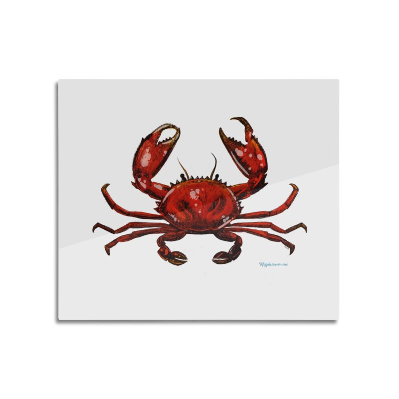 Red Crab Home Mounted Aluminum Print by Magichammer Art By Russ Fagle Shop