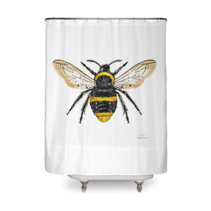 Bee Home Shower Curtain by Magichammer Art By Russ Fagle Shop