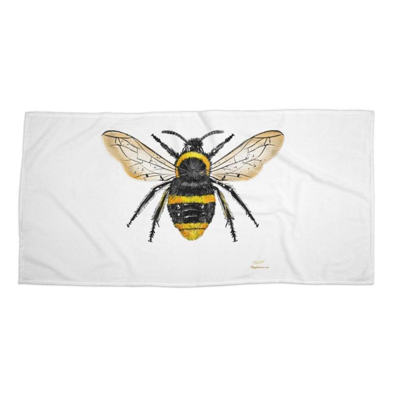 Bee Accessories Beach Towel by Magichammer Art By Russ Fagle Shop