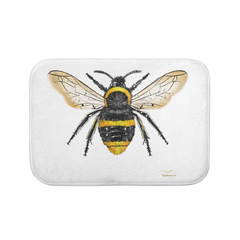 Bee Home Bath Mat by Magichammer Art By Russ Fagle Shop