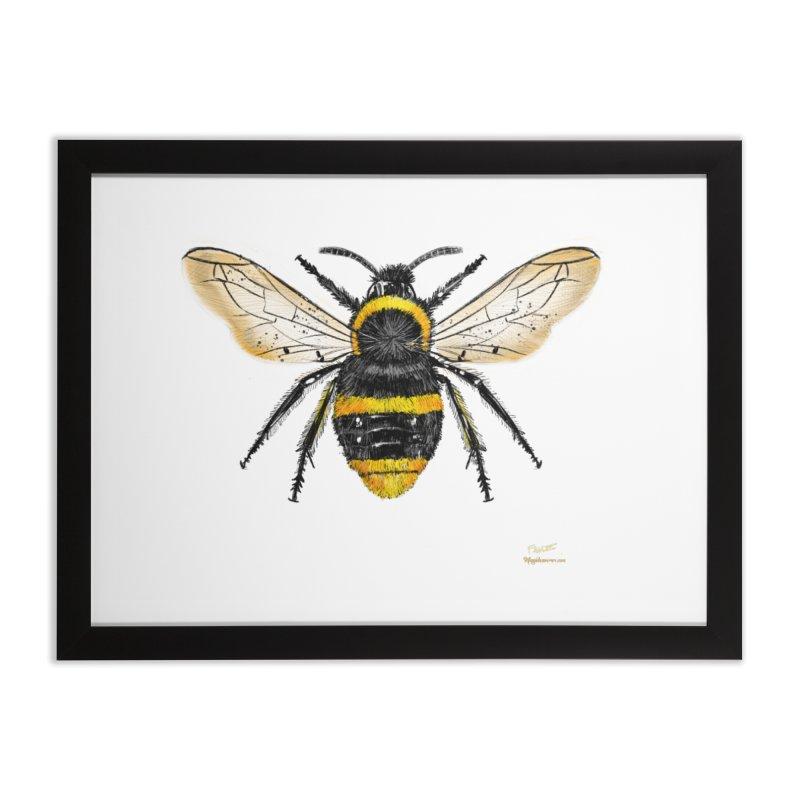 Bee Home Framed Fine Art Print by Magichammer Art By Russ Fagle Shop