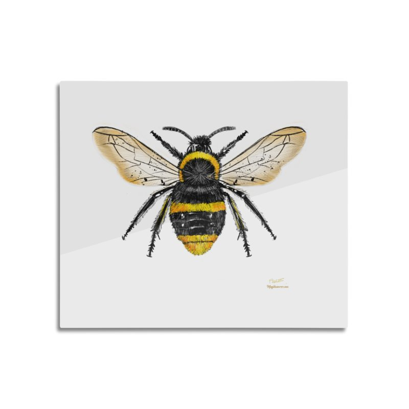 Bee Home Mounted Aluminum Print by Magichammer Art By Russ Fagle Shop