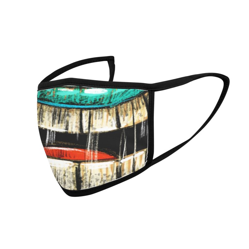 Tiki Mouth Mask Accessories Face Mask by Magichammer Art By Russ Fagle Shop