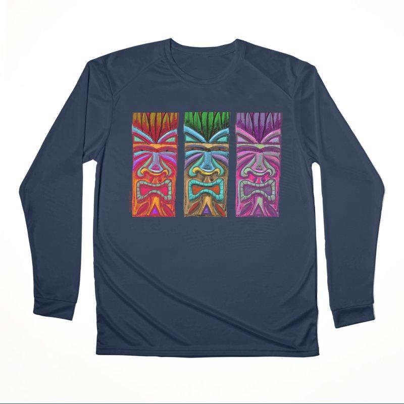 Three Tikis Men's Longsleeve T-Shirt by Magichammer Art By Russ Fagle Shop