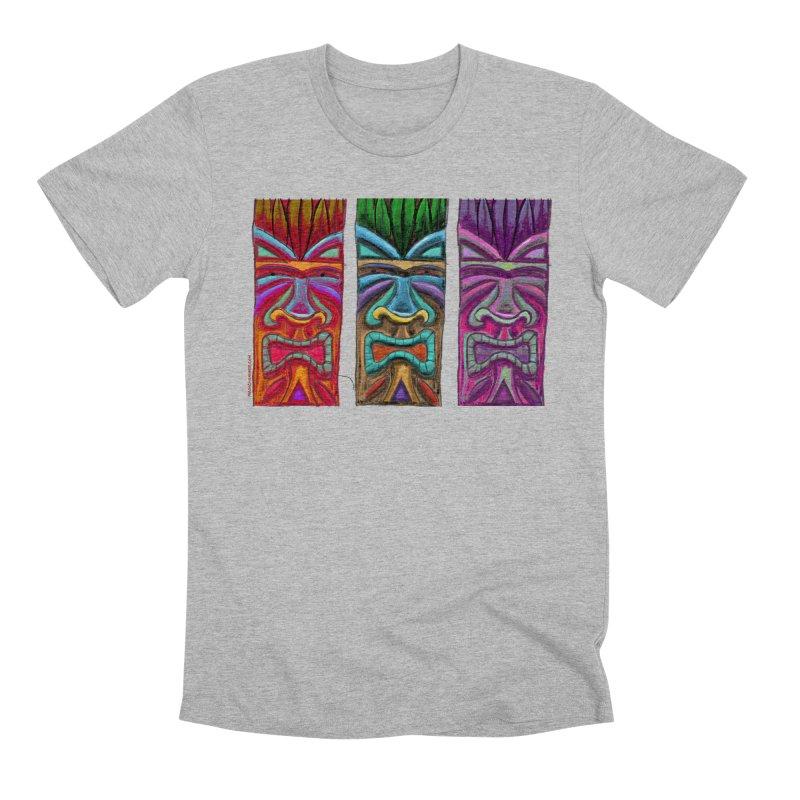 Three Tikis Men's T-Shirt by Magichammer Art By Russ Fagle Shop