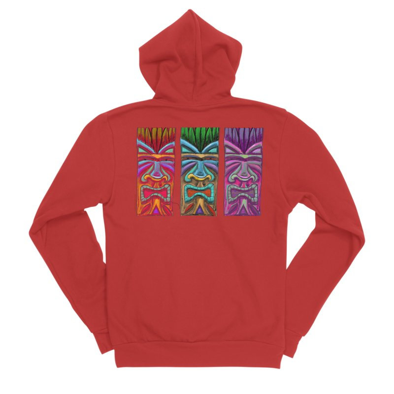 Three Tikis Women's Zip-Up Hoody by Magichammer Art By Russ Fagle Shop