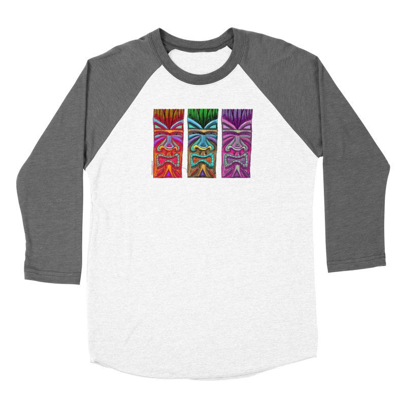 Three Tikis Women's Longsleeve T-Shirt by Magichammer Art By Russ Fagle Shop