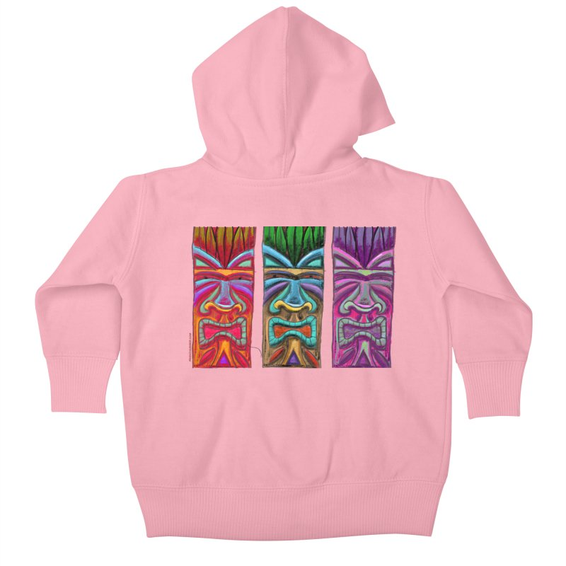 Three Tikis Kids Baby Zip-Up Hoody by Magichammer Art By Russ Fagle Shop