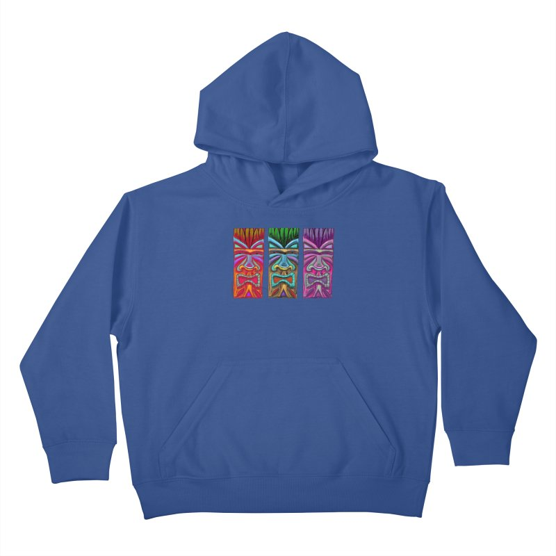 Three Tikis Kids Pullover Hoody by Magichammer Art By Russ Fagle Shop