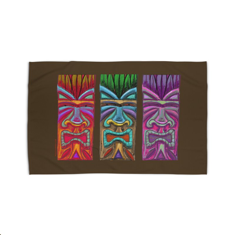 Three Tikis Home Rug by Magichammer Art By Russ Fagle Shop
