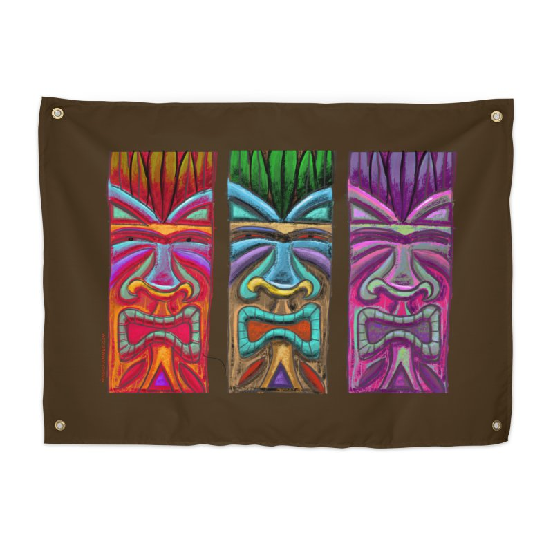 Three Tikis Home Tapestry by Magichammer Art By Russ Fagle Shop
