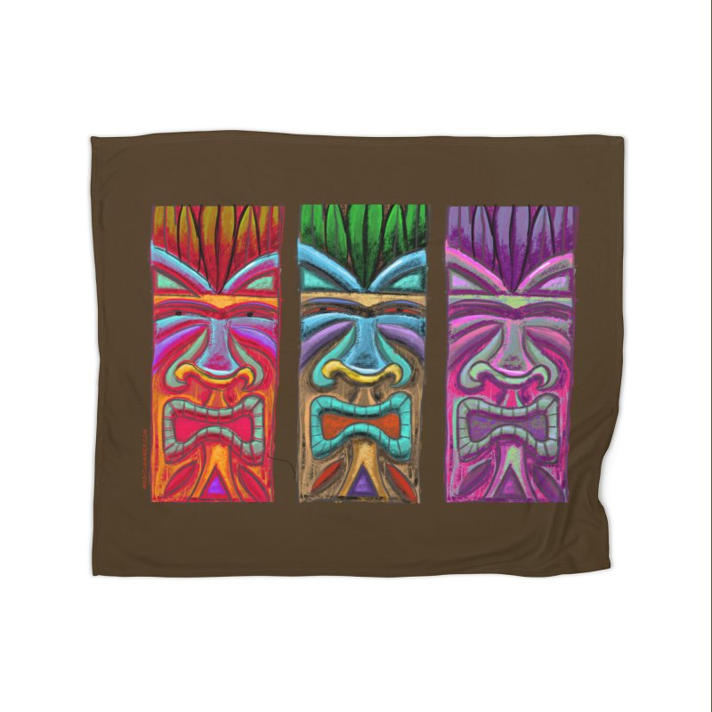 Three Tikis Home Blanket by Magichammer Art By Russ Fagle Shop