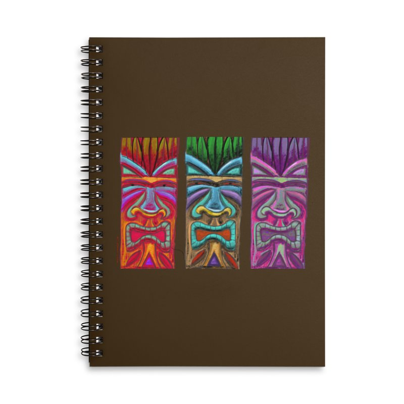 Three Tikis Accessories Notebook by Magichammer Art By Russ Fagle Shop