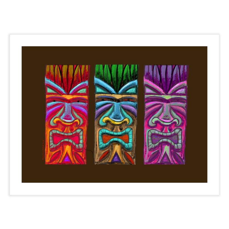 Three Tikis Home Fine Art Print by Magichammer Art By Russ Fagle Shop