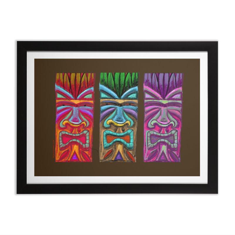 Three Tikis Home Framed Fine Art Print by Magichammer Art By Russ Fagle Shop