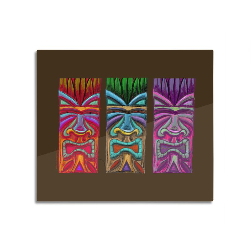 Three Tikis Home Mounted Acrylic Print by Magichammer Art By Russ Fagle Shop