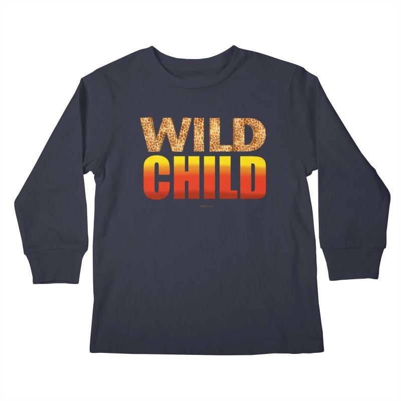 Wild Child Kids Longsleeve T-Shirt by Magichammer Art By Russ Fagle Shop