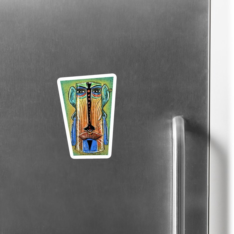 Sketchy Tiki Accessories Magnet by Magichammer Art By Russ Fagle Shop