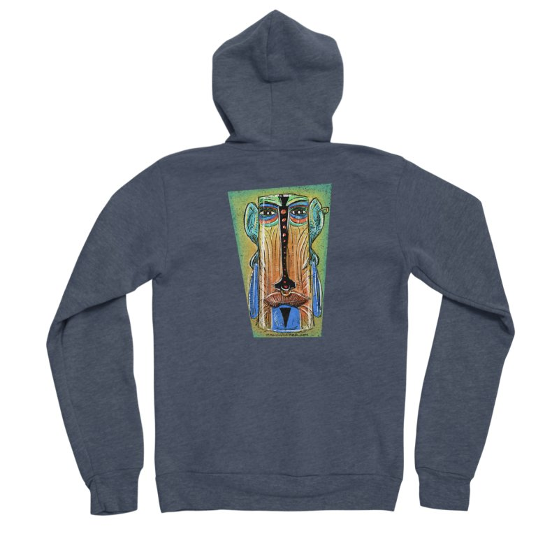 Sketchy Tiki Women's Zip-Up Hoody by Magichammer Art By Russ Fagle Shop