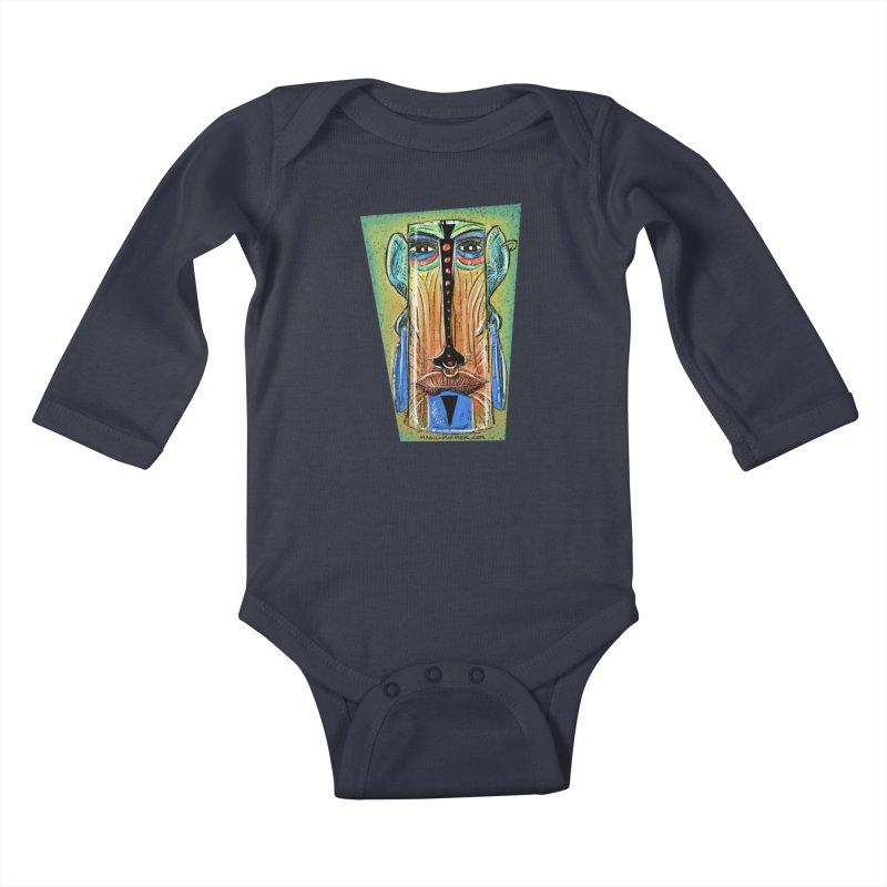 Sketchy Tiki Kids Baby Longsleeve Bodysuit by Magichammer Art By Russ Fagle Shop