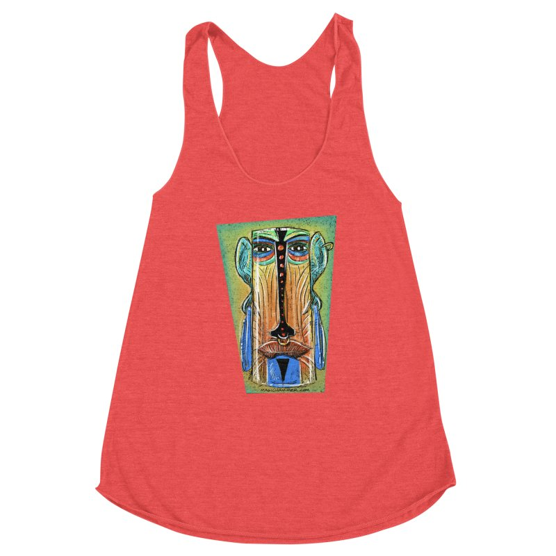 Sketchy Tiki Women's Tank by Magichammer Art By Russ Fagle Shop