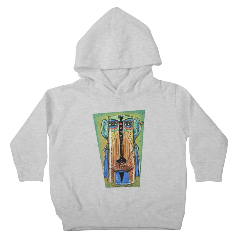 Sketchy Tiki Kids Toddler Pullover Hoody by Magichammer Art By Russ Fagle Shop