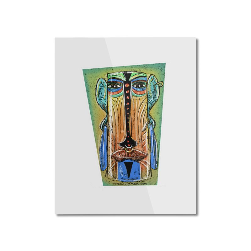 Sketchy Tiki Home Mounted Aluminum Print by Magichammer Art By Russ Fagle Shop
