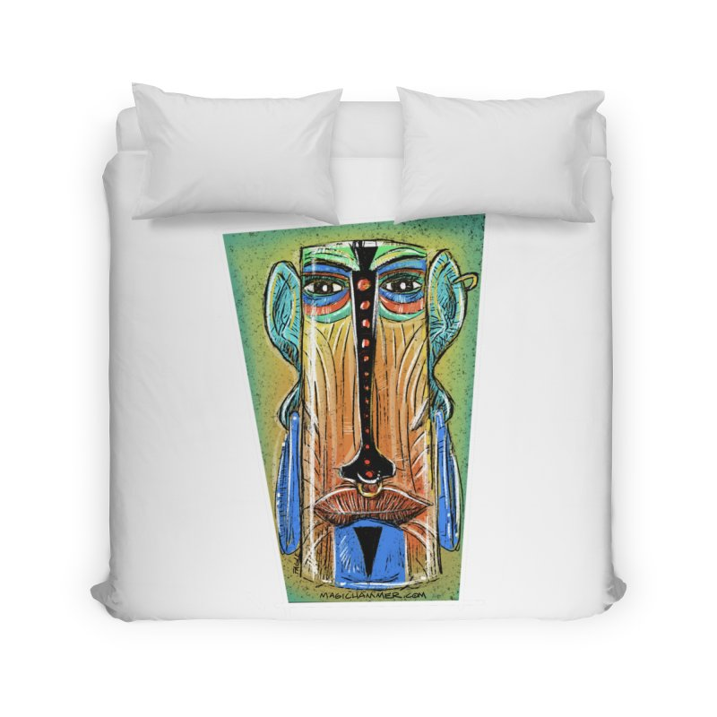 Sketchy Tiki Home Duvet by Magichammer Art By Russ Fagle Shop