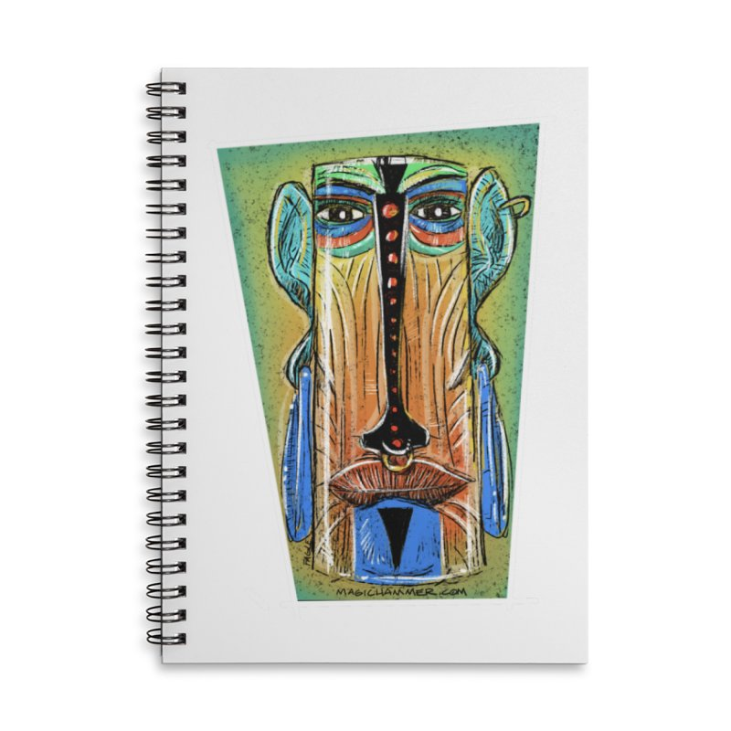 Sketchy Tiki Accessories Notebook by Magichammer Art By Russ Fagle Shop