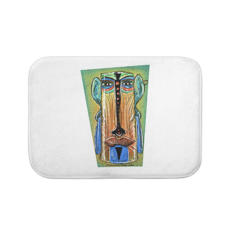 Sketchy Tiki Home Bath Mat by Magichammer Art By Russ Fagle Shop