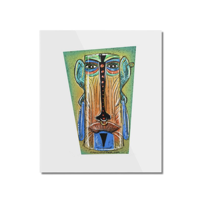 Sketchy Tiki Home Mounted Acrylic Print by Magichammer Art By Russ Fagle Shop