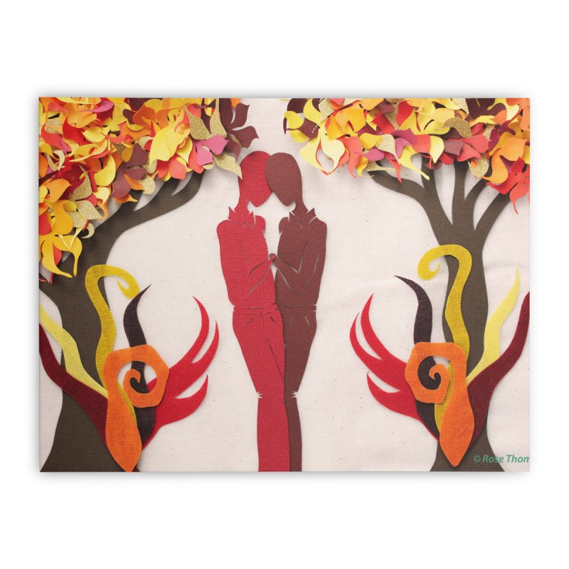 Autumn Kiss 1 Home Stretched Canvas by MagpieAtMidnight's Artist Shop