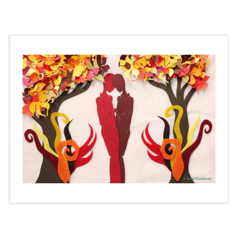 Autumn Kiss 1 Home Fine Art Print by MagpieAtMidnight's Artist Shop