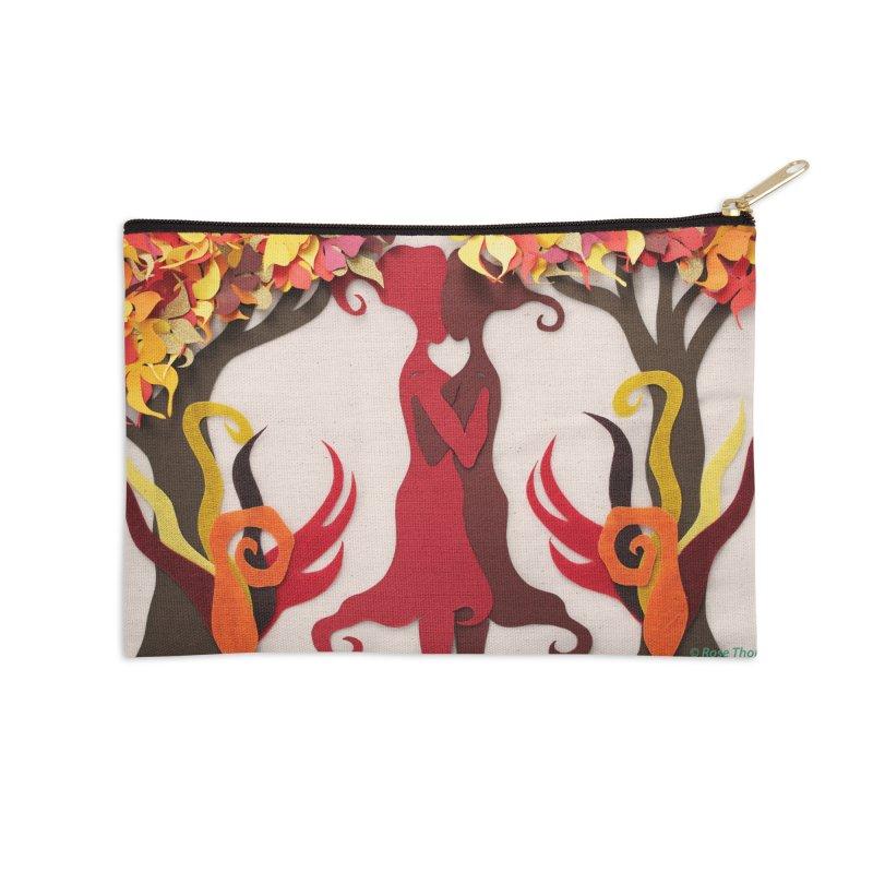 Autumn Kiss 2 Accessories Zip Pouch by MagpieAtMidnight's Artist Shop