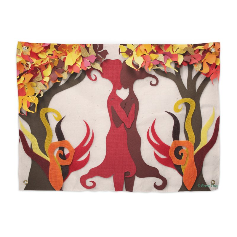 Autumn Kiss 2 Home Tapestry by MagpieAtMidnight's Artist Shop