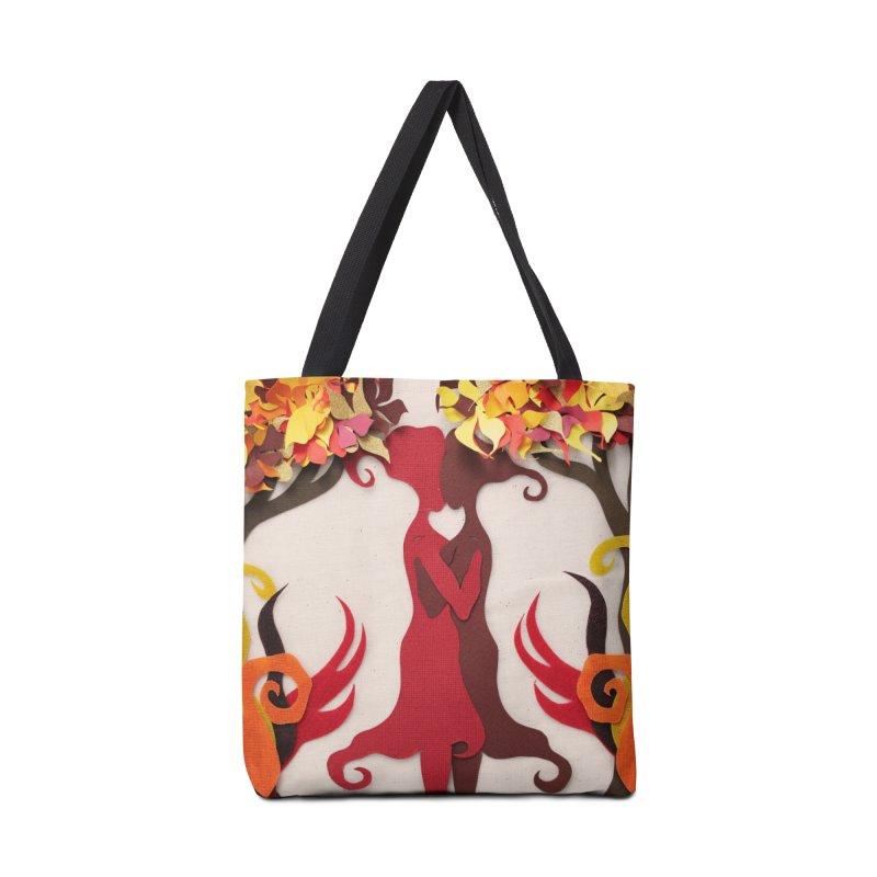Autumn Kiss 2 Accessories Bag by MagpieAtMidnight's Artist Shop