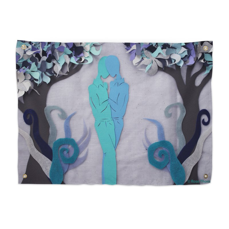 Winter Kiss 1 Home Tapestry by MagpieAtMidnight's Artist Shop