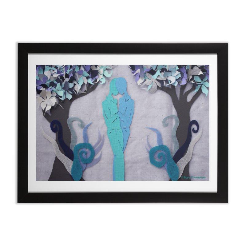 Winter Kiss 1 Home Framed Fine Art Print by MagpieAtMidnight's Artist Shop