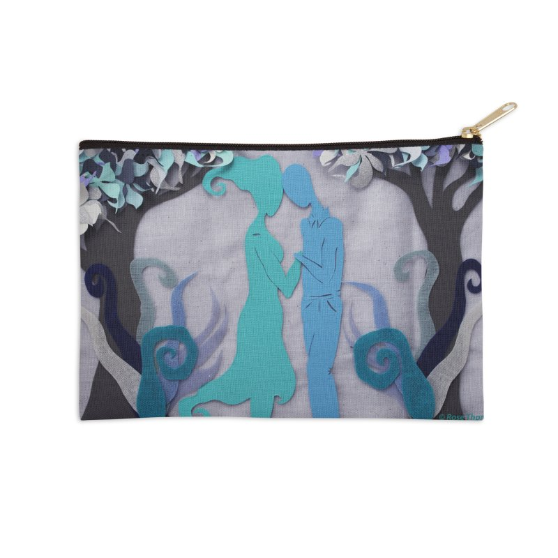 Winter Kiss 3 Accessories Zip Pouch by MagpieAtMidnight's Artist Shop